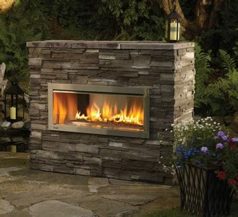 regency horizon hzo outdoor gas fireplace portland