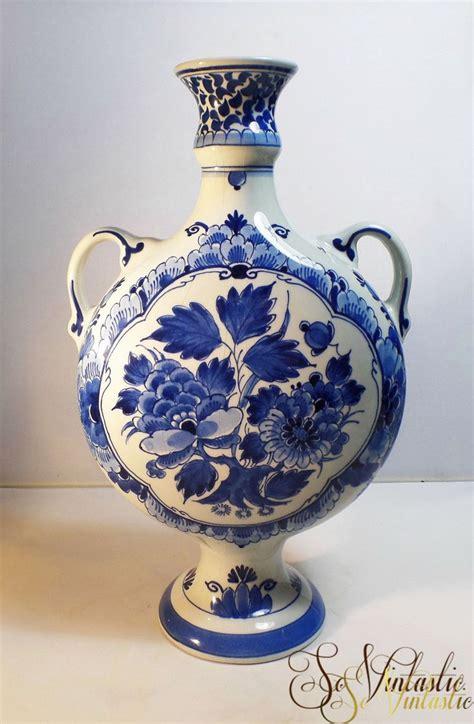 Delfter Porzellan Preise by Royal Delft Pottery Vase Delft Blue Vase Handled