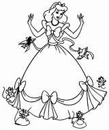 Princess Gambar Disney Sketsa Cinderella Coloring Cwi Cinderell Loyal Friend Printable sketch template