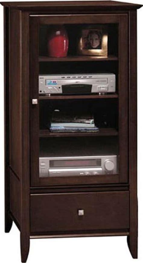 audio video storage cabinet bush ad05840 03 audio cabinet sonoma collection mocha