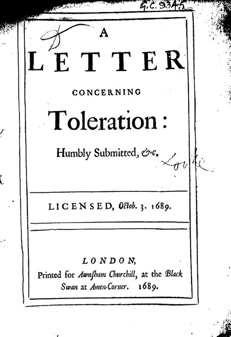locke letter concerning toleration a letter concerning toleration levelings