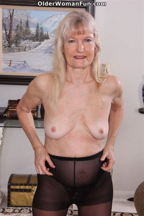 Year Old Granny Claire Peels Off Her Pantyhose Photo