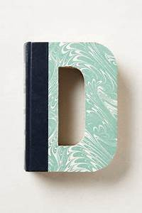 monogram letters cut from readers digest books by With books cut out into letters
