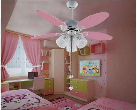 kids room ceiling fan 2017 wholesale cute pink ceiling fan light kids room 051
