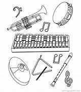 Coloring Pages Instrument Print sketch template