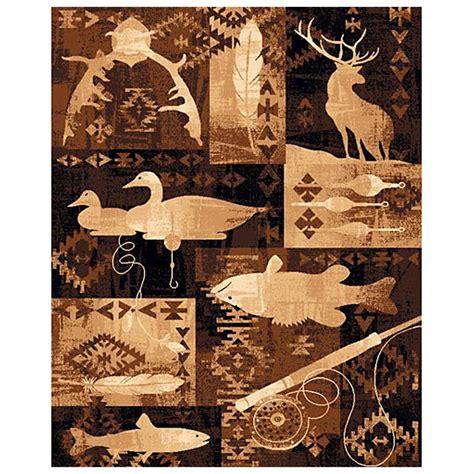 deer area rug goose fish and deer area rug 226531 rugs at sportsman