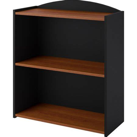 walmart black bookshelf mainstays 2 shelf bookcase colors walmart