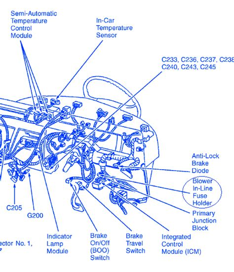Electrical Wiring Diagram Ford 1996 by Ford Thunderbird 1996 Dash Electrical Circuit Wiring