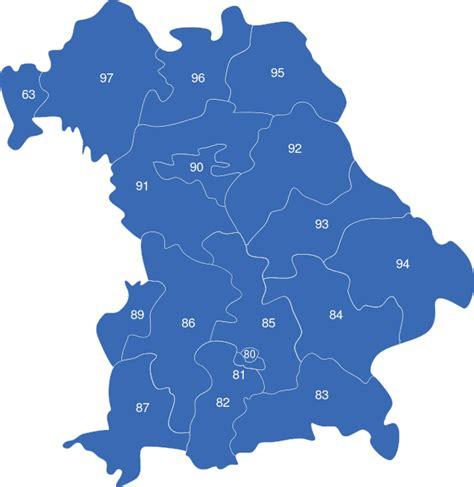 Postleitzahlen Bayern Karte Kostenlos
