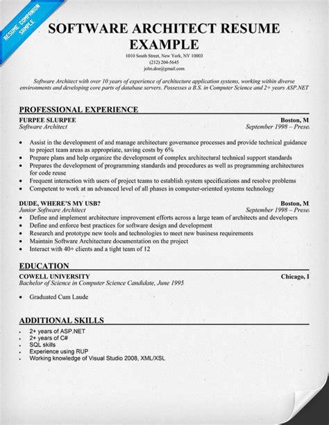 Resume Software Architect  Resume Ideas