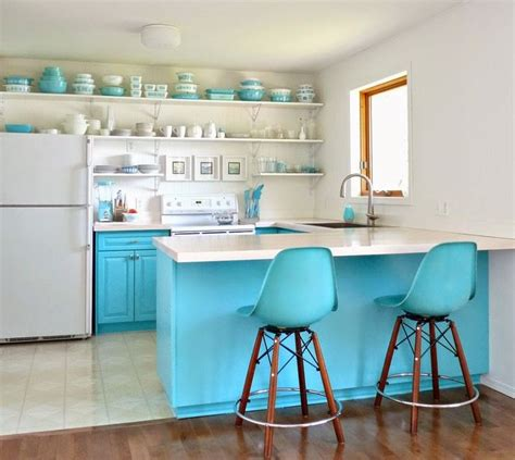 Teal Kitchen White Cabinets by 1000 Ideas About Turquoise Kitchen Cabinets On