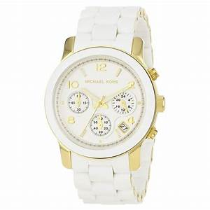 Ladies Michael Kors Gold Runway Watch with Chronograph ...