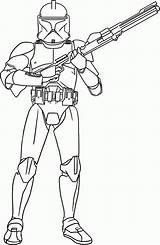 Coloring Trooper Clone Wars Popular Adults sketch template