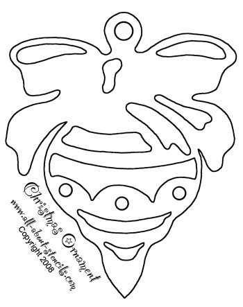 printable christmas ornament shapes free stencils to print for arts and crafts