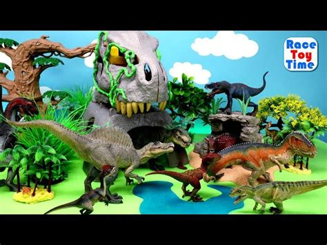 fun dinosaurs toys  kids lets learn dino names