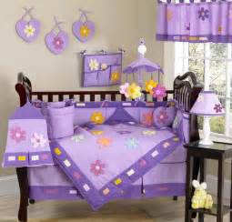 luxury purple flower boutique 9pc baby girl crib bedding