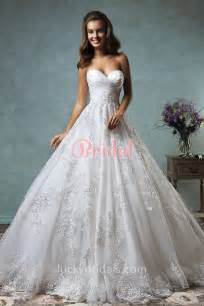 sweetheart wedding dresses vintage inspired gown strapless sweetheart lace wedding dress luckybridals