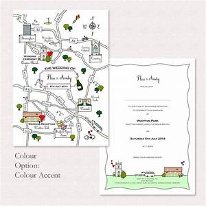 wedding or party illustrated map invitation by cute maps With sample wedding invitation maps