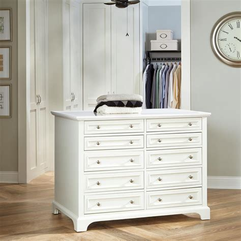Closet Styles by Home Styles Naples 48 In W Closet Island In White 5530