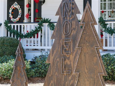 plywood christmas decorations how to make rustic nail trees hgtv