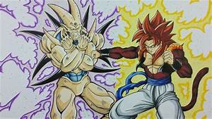 Drawing Gogeta SSj4 vs Omega Shenron | Dragonball GT ...