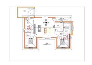 plan maison en u ouvert 224 toit plat avec garage plans maisons
