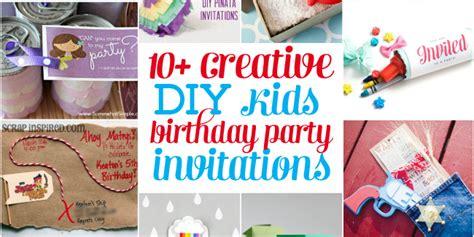 Creative Diy Kids  Ee  Birthday Ee   Party Invitations Design