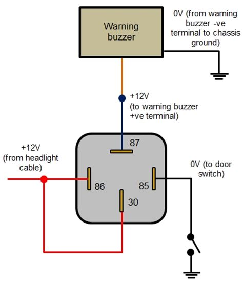 relay wiring diagram 4 pin wiring diagram and schematic diagram