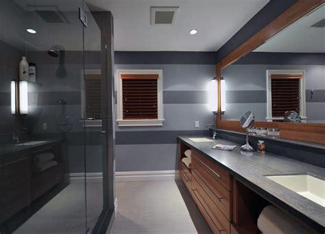 Exotic Zebra Wood Bathroom  Woodmode Cabinets
