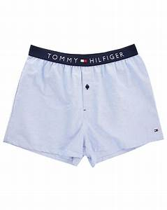 Tommy Hilfiger Blue Oxford Boxer Shorts in Blue for Men | Lyst