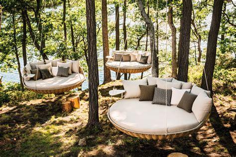 dedon swing daniel pouzet s swingrest hanging outdoor lounge for dedon