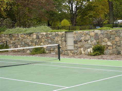 retaining walls oval tennis