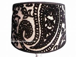 Lampenschirme Stoff Landhausstil : lampenschirm edel barock schwarz stoff e27 30 25 19 rund lampenschirme lampen zauberhafter ~ Frokenaadalensverden.com Haus und Dekorationen