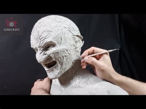 Sculpting Freddy Krueger Timelapse Video