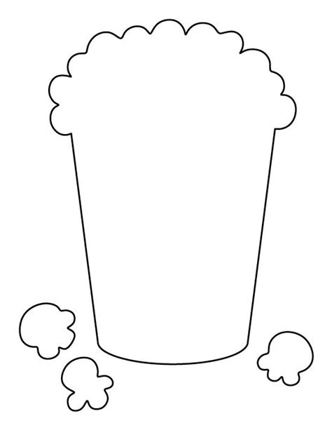 popcorn template popcorn pattern use the printable outline for crafts creating stencils scrapbooking and more