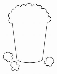 Popcorn pattern. Use the printable outline for crafts ...