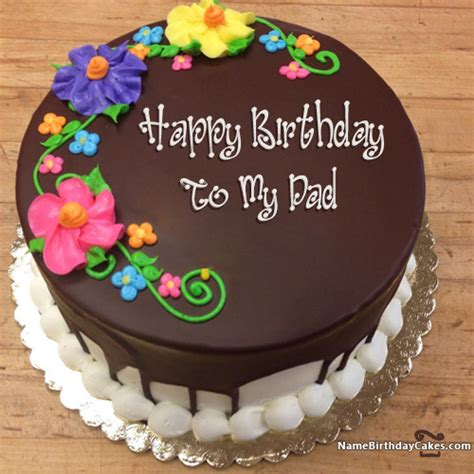 happy birthday   dad cakes cards wishes