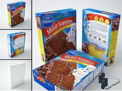 Pillsbury Mix Cake Chocolate Models Cgtrader