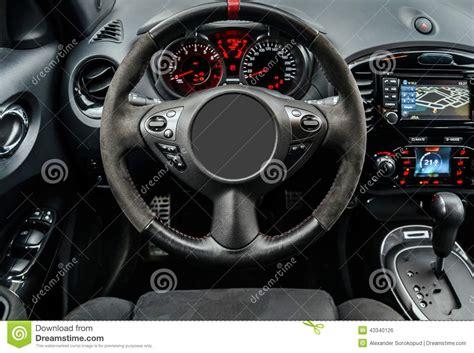 Modern Sport Car Dashboard Stock Photo
