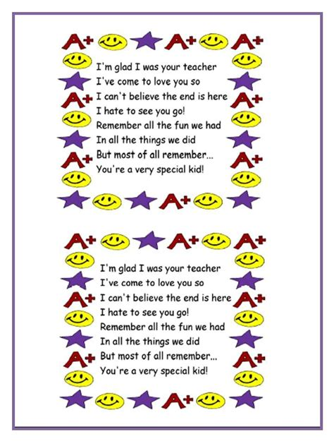poem for preschool teacher poems can be for students of different ages 969