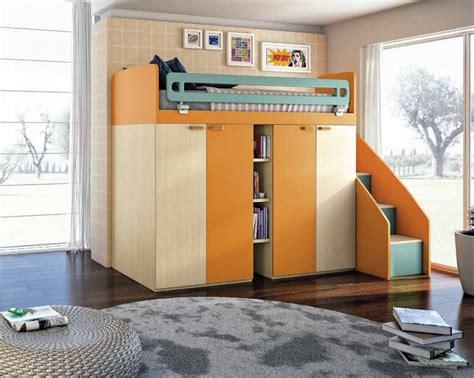 armadio a letto letto a attrezzato con armadio 4 ante e scala