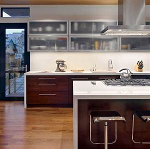 wooden lower cabinets and frosted glass upper cabinets With kitchen colors with white cabinets with etched glass wall art