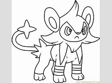 Luxio Pokemon Coloring Page Free Pokémon Coloring Pages