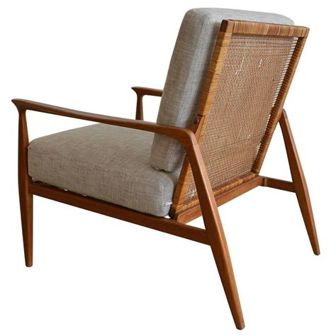 danish cane back lounge chair in the manner of kofod