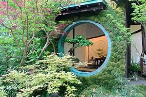 Idée Jardin Japonais : fleurs arbustes lanterne chinoise pour des jardins japonais ~ Nature-et-papiers.com Idées de Décoration