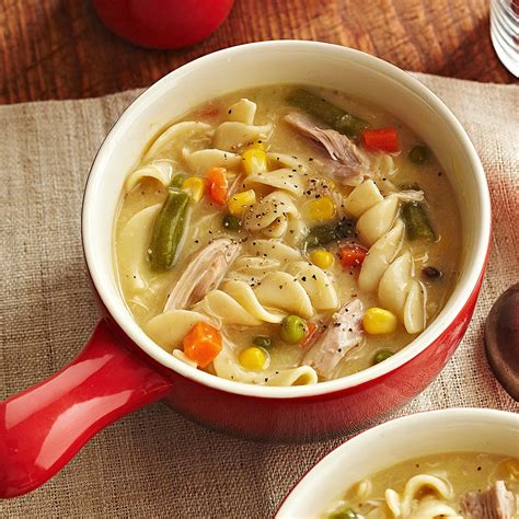 noodle soup recipe creamy chicken noodle soup recipe eatingwell