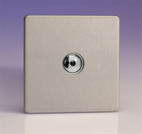 brushed steel screwless touch dimmers