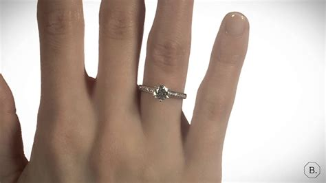 carat solitaire diamond ring  white gold  side