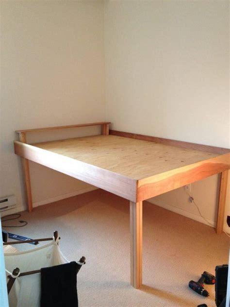 ideas  tall bed frame  pinterest diy bed