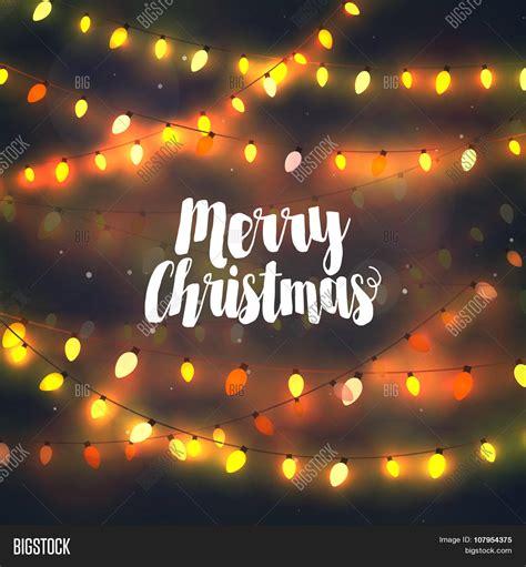 cozy yellow christmas lights vector photo bigstock
